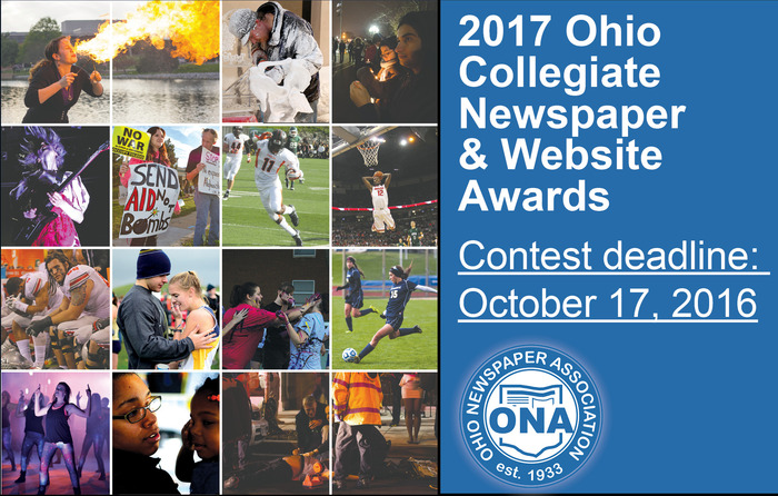 Ohio Collegiate Newspaper & Website Awards open for submissions
